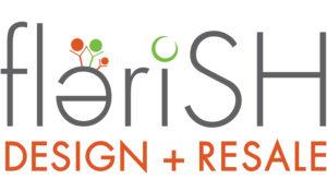 logo for Flerish Design and Resale thrift store.